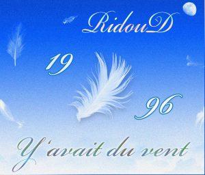 1 CD RIDOUD 1996 Pochette complète